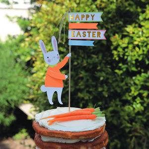 Happy Easter Large Cake Topper Decoration - easter baking ideas