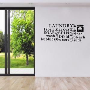Laundry Word Cloud Wall Sticker