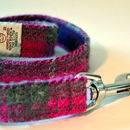 Check Harris Tweed Dog Lead