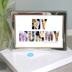 Framed Personalised 'My Mummy' Photograph Print