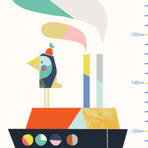 Under The Sea Height Chart - children's room