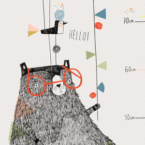 Beryl Bear Height Chart - decorative accessories