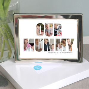 Framed Personalised 'Our Mummy' Photograph Print - mother's day gifts