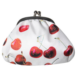 Cherry Print Baby Betty Silk Purse