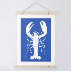 Lobster Print - pictures & prints for children