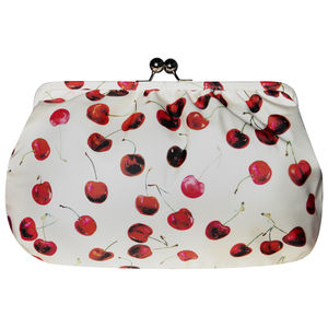 Cherry Silk Empress Clutch Bag