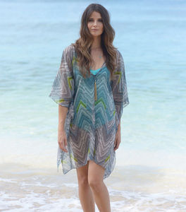 Island Chevron Kaftan - women's fashion