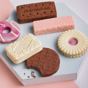 Box Of Biscuit Shaped Chocolates - 80th birthday gifts