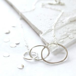 Mum And Me Silver Necklace - jewellery for the modern mum