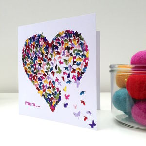 Special Mum Or Special Mam Kaleidoscope Butterfly Card - birthday cards