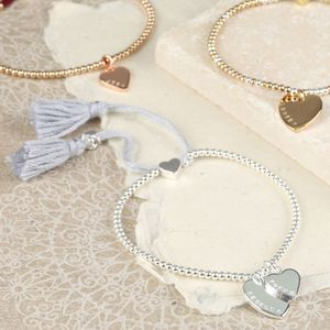 Personalised Double Heart Dainty Links Bracelet - bracelets & bangles