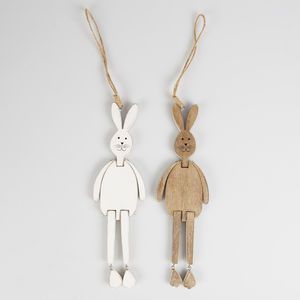 Wooden Bunny Rabbit Hanging Decoration - view all sale items
