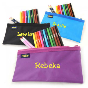 Personalised Pencilcase And Pencils Set - toys & games