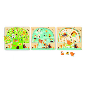 Wooden Tree House Three Layer Puzzle - traditional toys & games