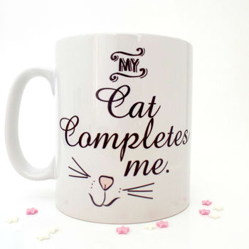 'My Cat Completes Me' Cat Lovers Mug