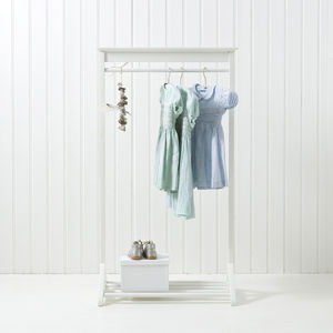 White Children's Clothes Rail - home decorating