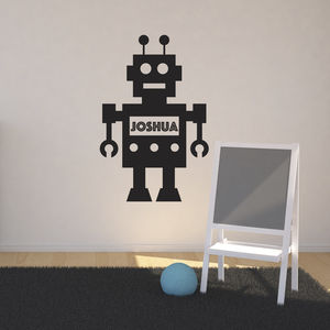 Personalised Robot Wall Sticker - home accessories