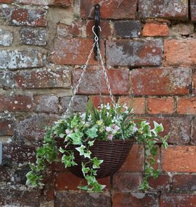 Artificial Pink And White Hanging Basket