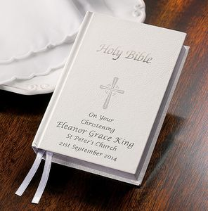 Personalised Christening Bible - christening gifts