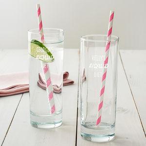 Personalised 'Liquid Diet' Hi Ball Glass