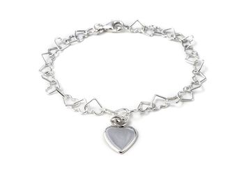 Silver Linked Heart Bracelet