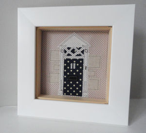 Personalised Front Door Textile Illustration - mixed media & collage