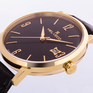 St Gallen Gold Ip Classic Swiss Gents Watch - gifts for groomsmen