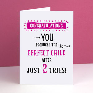 'Perfect Child' Mother's Day Card - personalised cards