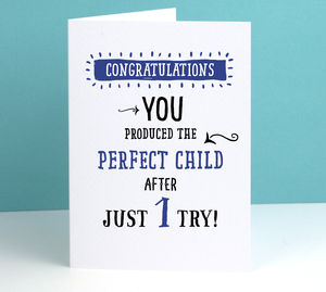'Perfect Child' Funny Personalised Father's Day Card