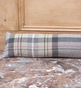 Slate Check Tartan Draught Excluder