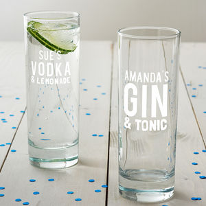 Personalised Mixers Hi Ball Glass - gifts under £25 for her