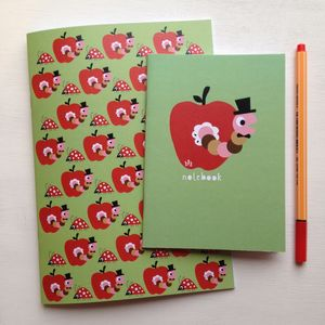 Apple And Ladybird Notebook Set - for children