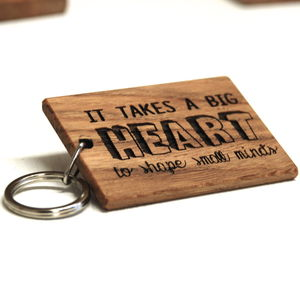 Personalised 'It Takes A Big Heart' Teachers Keyring - gifts for teachers