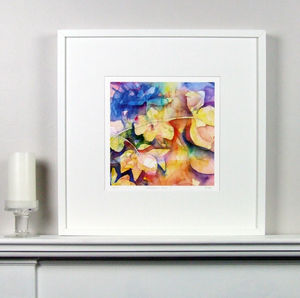 Limited Edition Floral Brown Fine Art Watercolour Print