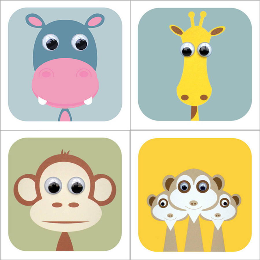 Safari Animal Cards By Stripeycats Notonthehighstreet Com