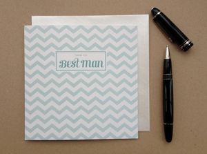 Chevron Bestman Thank You Card - whats new