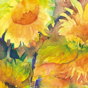 Limited Edition Sunflowers Two Fine Art Canvas Print - nature & landscape