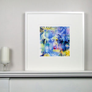 Colourful Floral Fine Art Watercolour Print One