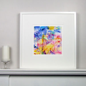 Colourful Floral Fine Art Watercolour Print Three
