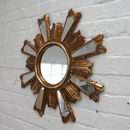 Aged Gold Sunburst Mirror