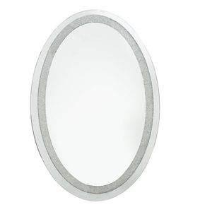 Oval Wall Mirror Filled With Swarovski Crystals - mirrors
