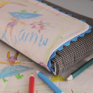 Personalised Child's Drawing Clutch Bag - clutch bags