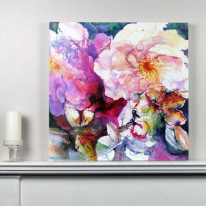 Limited Edition Pink Floral Fine Art Canvas Print - nature & landscape