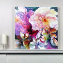Limited Edition Pink Floral Fine Art Canvas Print