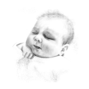 Personalised Baby And Child Portraits From Your Photos - personalised