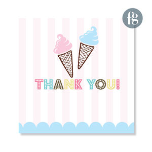 Vintage Ice Cream Thank You Cards