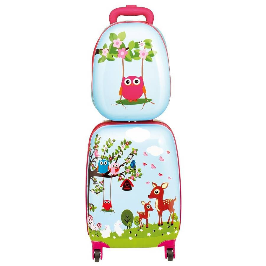 cheap kids rolling luggage   luggage and suitcases  part  - kids woodland hard shell luggage set by little ella james