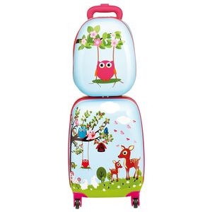Kids Woodland Hard Shell Luggage Set