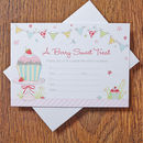 Cupcake 'You're Too Sweet' Party Invitations