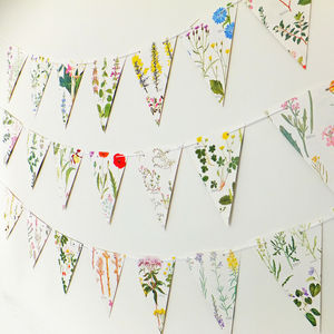 British Wild Flower Bunting - adults birthday